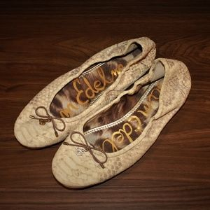 Sam Edelman snake leather flats, size 8M